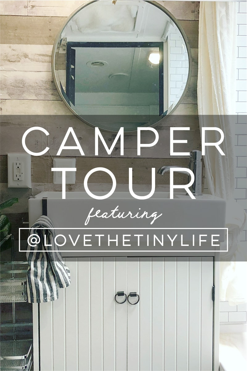 (Camper) Design Vibes Featuring LovetheTinyLife -Tour this renovated travel trailer perfect for a family of 3!