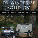 See how using the Viair 400P-RV Portable Air Compressor and Winterizing Kit is perfect for RV'ers. Plus this combo makes winterizing your camper a breeze! MountainModernLife.com