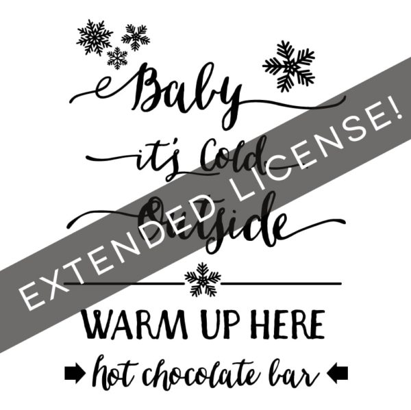Hot Chocolate Bar Extended License | MountainModernLife.com