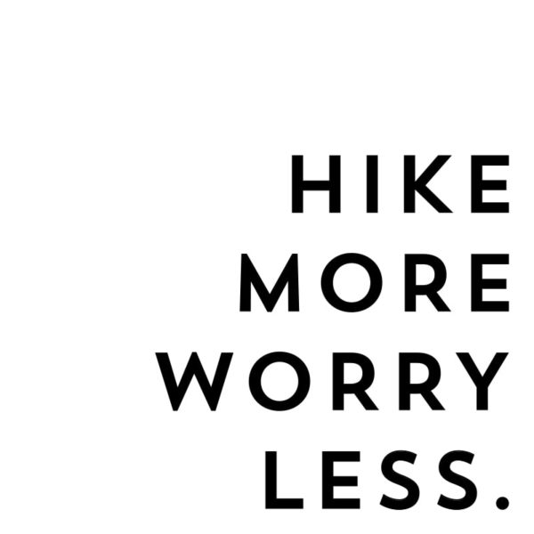 "Instantly Download this ""Hike More Worry Less"" print or use the SVG cut files to make your own sign for personal use!"