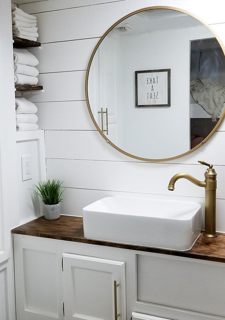 remodeled motorhome bathroom design