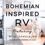 See how a couple transformed their 1989 motorhome into a bohemian-inspired sanctuary! View the tour from @TheRamblrRV on MountainModernLife.com