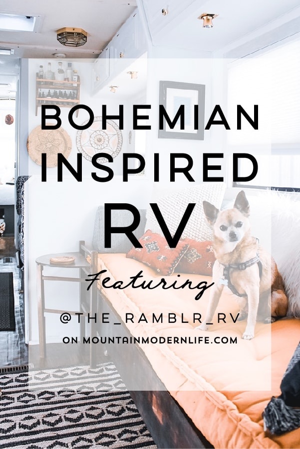 See how a couple transformed their 1989 motorhome into a bohemian-inspired sanctuary!