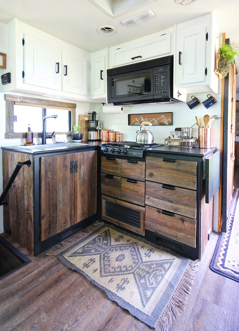 Come see how an outdated RV was transformed into a Mountain Modern Motorhome!