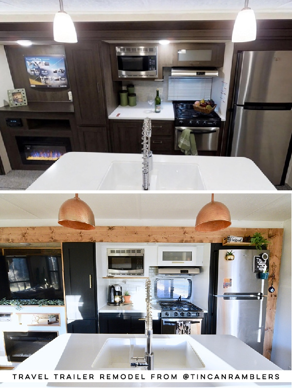 This renovated travel trailer from @TinCanRamblers has major Southwestern Vibes! See the before and after on MountainModernLife.com