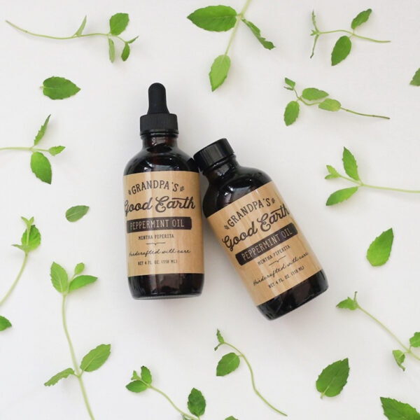 Grandpa's Good Earth 100% Pure Peppermint Oil | mountainmodernlife.com