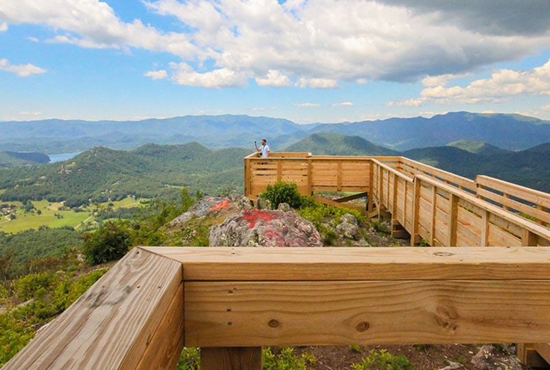 Bell Mountain views from Hiawassee, Georgia - MountainModernLife.com