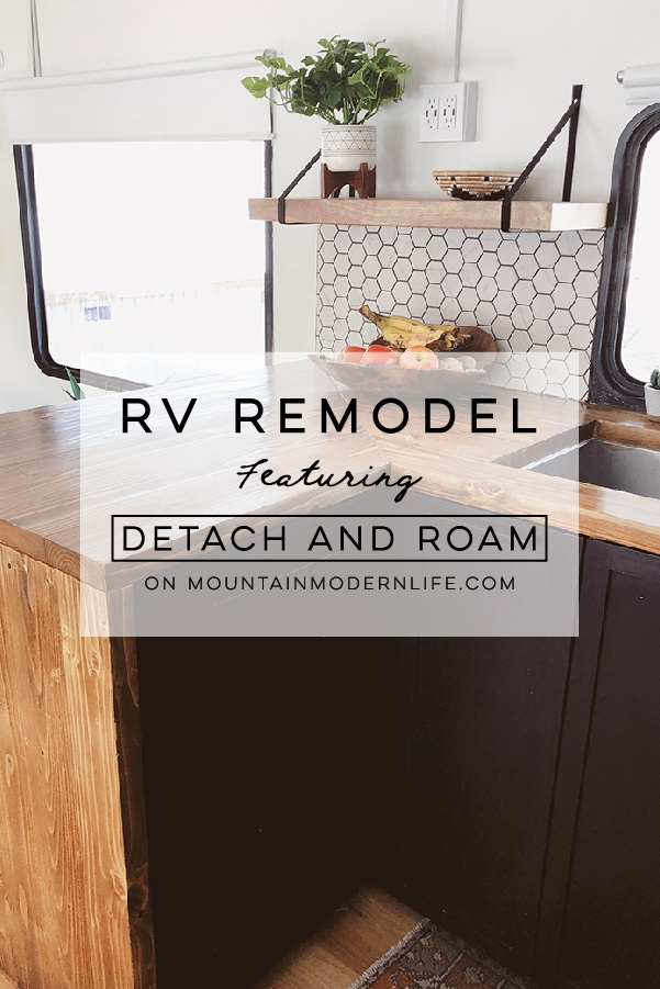 Tour this Modern RV Remodel filled with Scandinavian Coziness