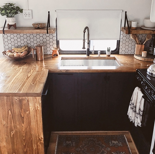 This Modern RV Remodel is filled with Scandinavian Coziness - Featuring Detach and Roam on MountainModernLife.com