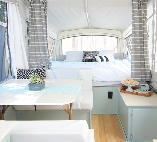 This Pop Up Camper Makeover Cost Less Than 200