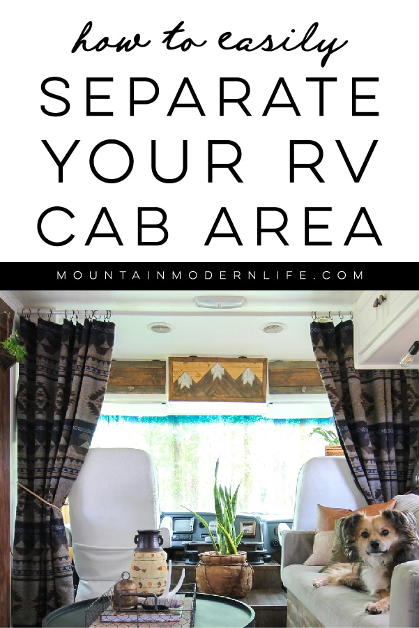 How to separate RV cab area with curtains   MountainModernLife.com