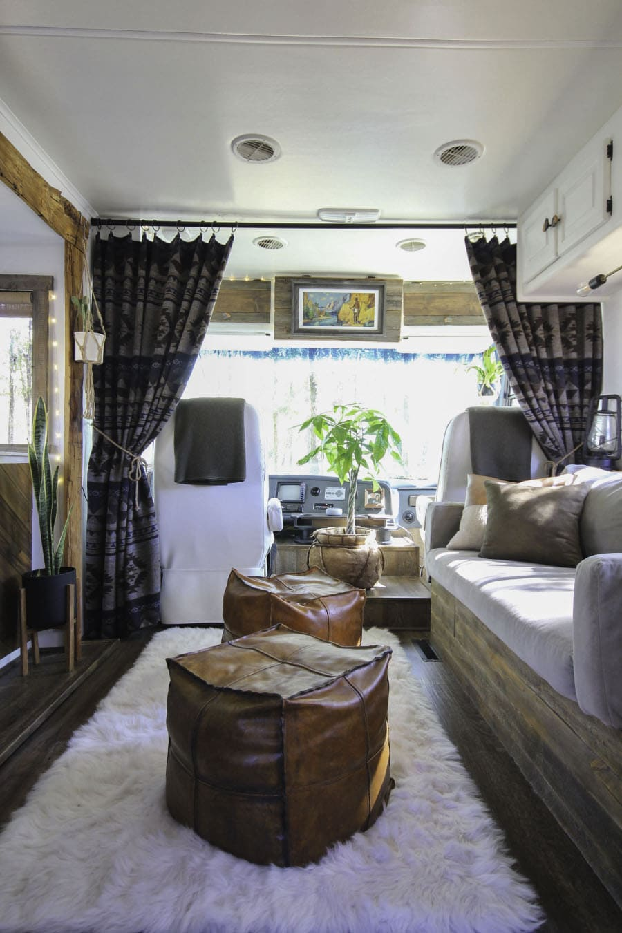 Rustic RV Living Room
