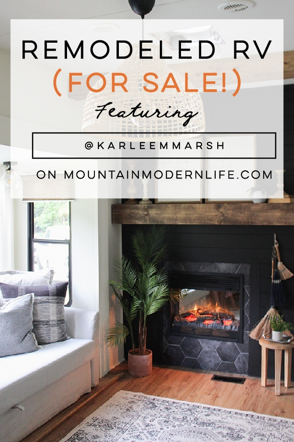 Renovated 5th Wheel for Sale from @karleemmarsh on MountainModernLife.com