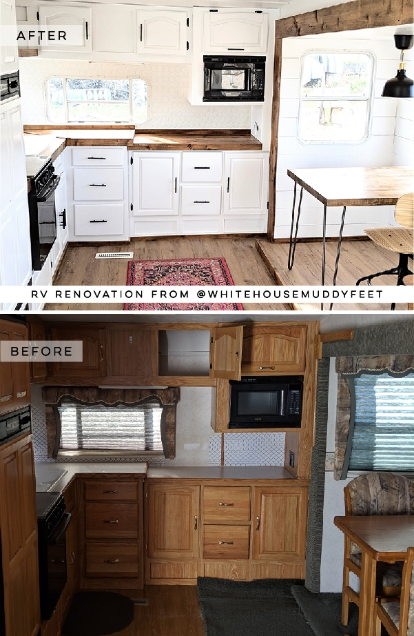 Modern Farmhouse RV Tour featuring @WhiteHouseMuddyFeet on MountainModernLife.com