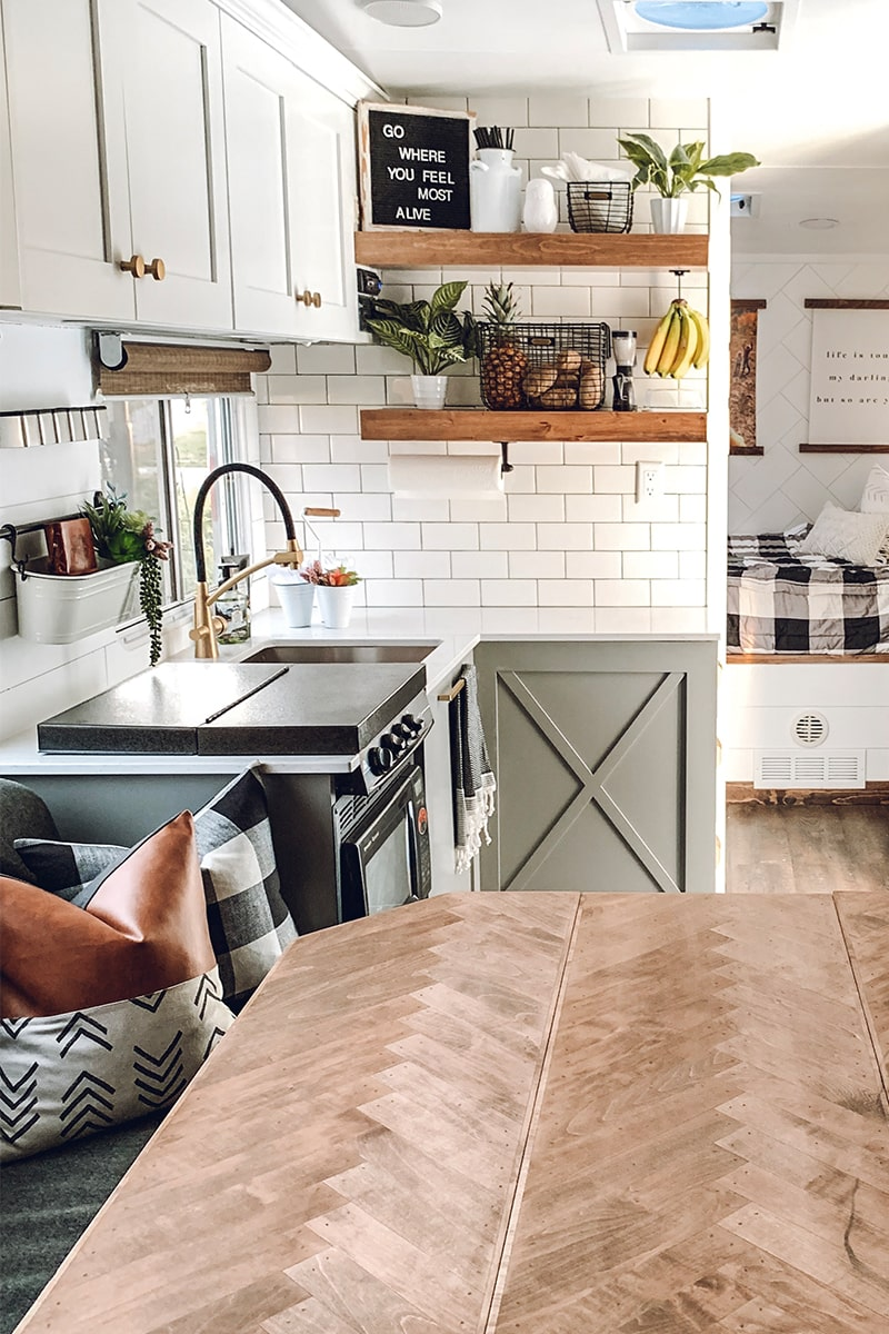 You'll wanna go glamping in this Modern Farmhouse Toy Hauler! Featuring @FoxandTimber on MountainModernLife.com