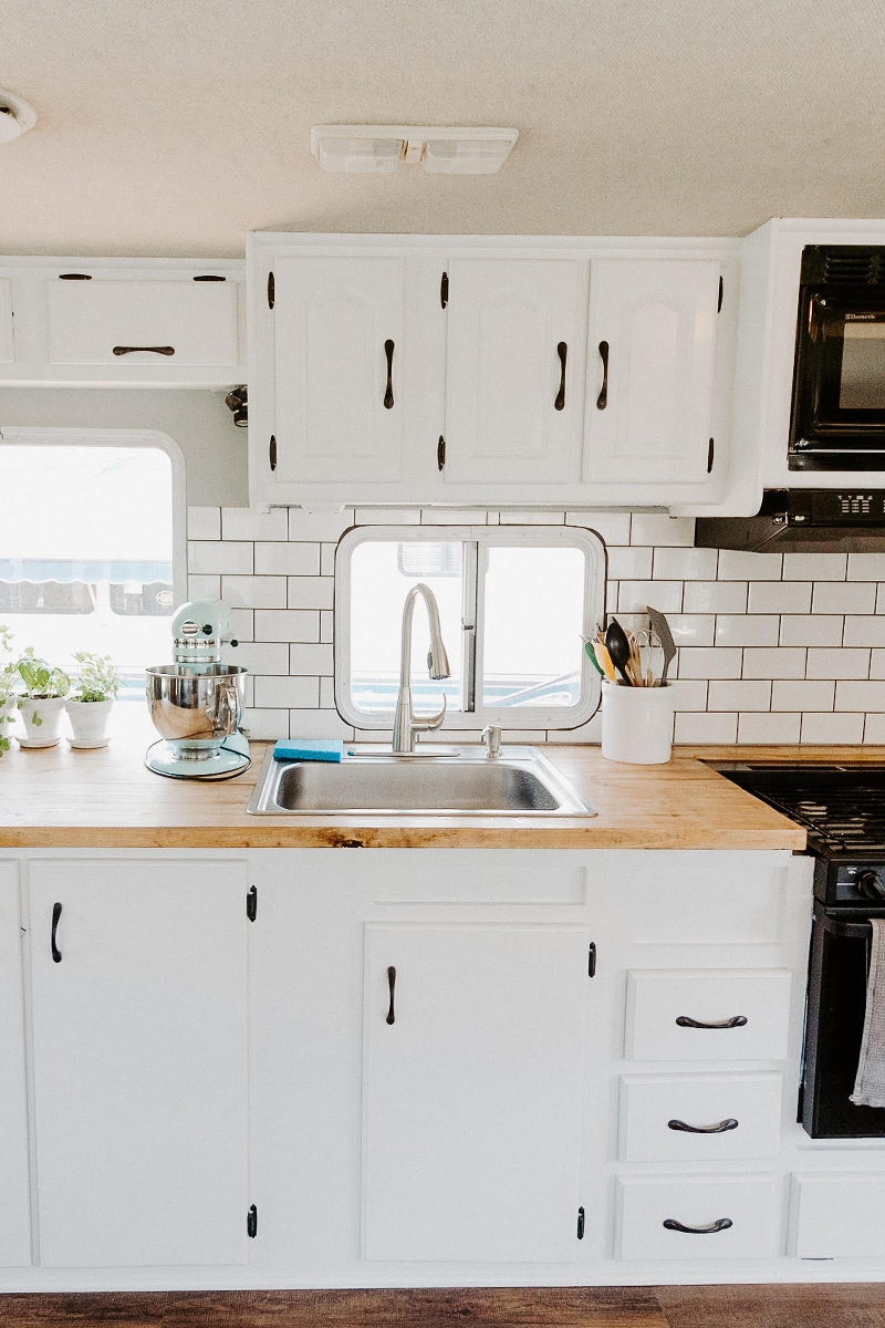 Motorhome RV Kitchen Renovation from @meganleannjones - Featured on MountainModernLife.com