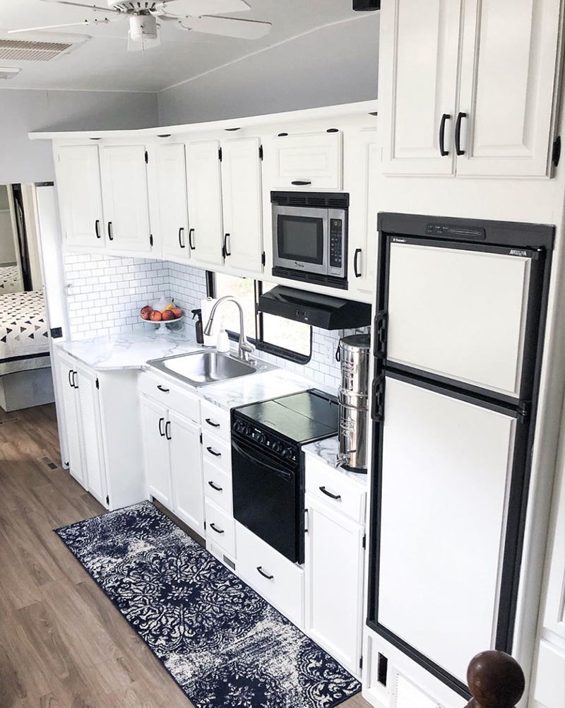 RV Kitchen Remodel from @fifthwheelfarmhouse