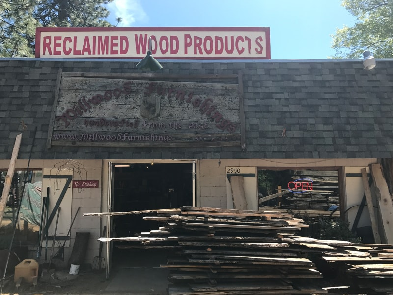 Millwood Furnishings Reclaimed Wood near Tahoe | MountainModernLife.com