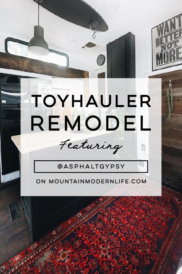 Toy Hauler Renovation from AsphaltGypsy!