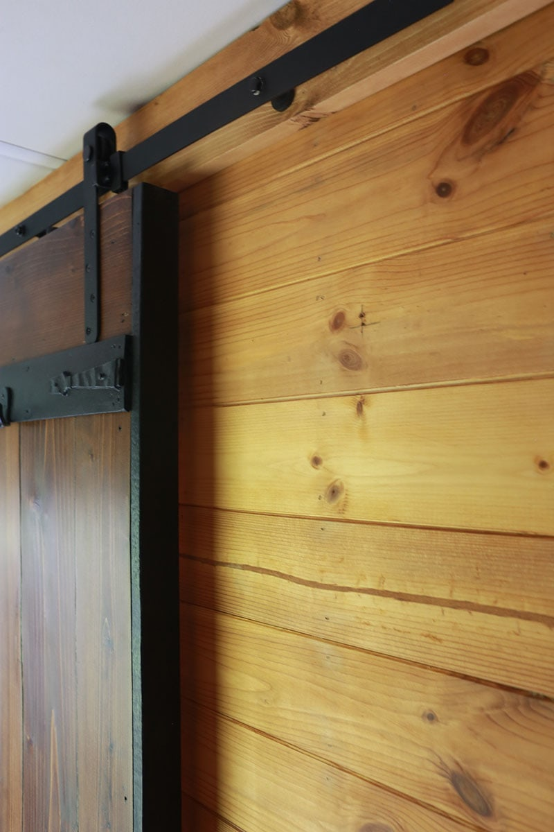 lightweight sliding barn door in RV