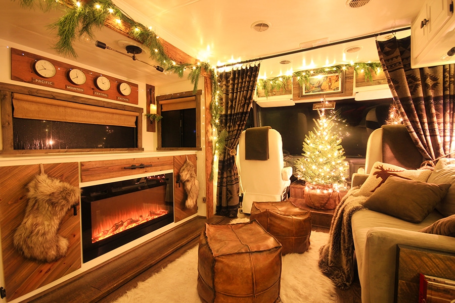 Real Christmas tree in RV