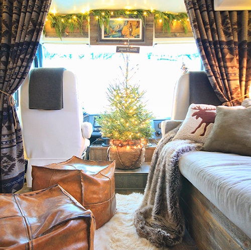 Renovated RV Christmas Tour