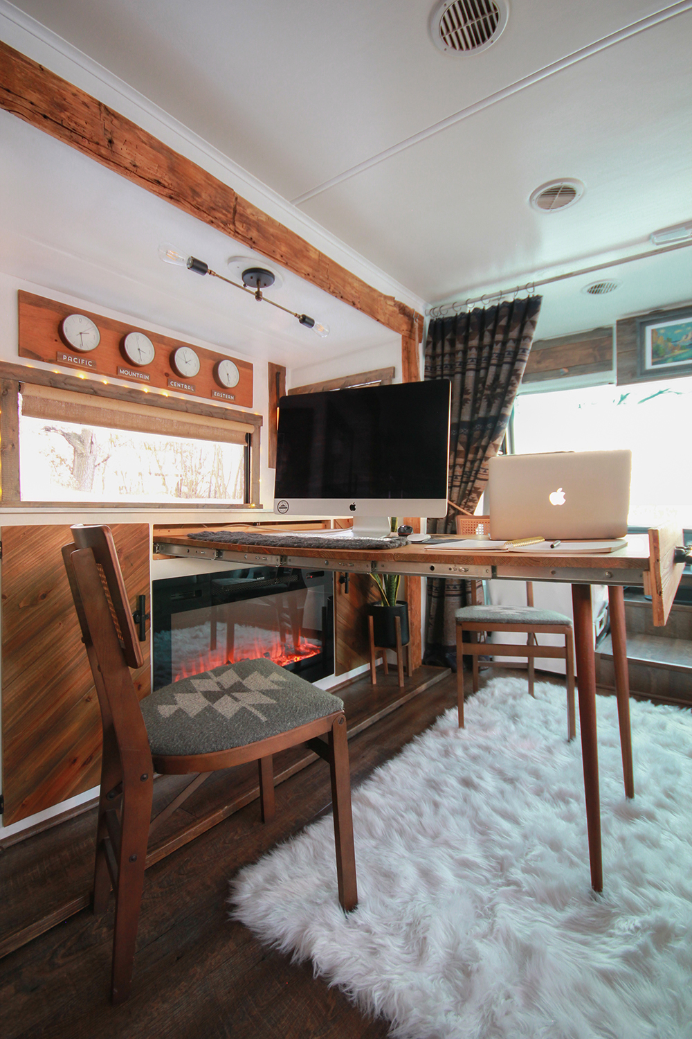 Renovated RV Interior from MountainModernLife.com