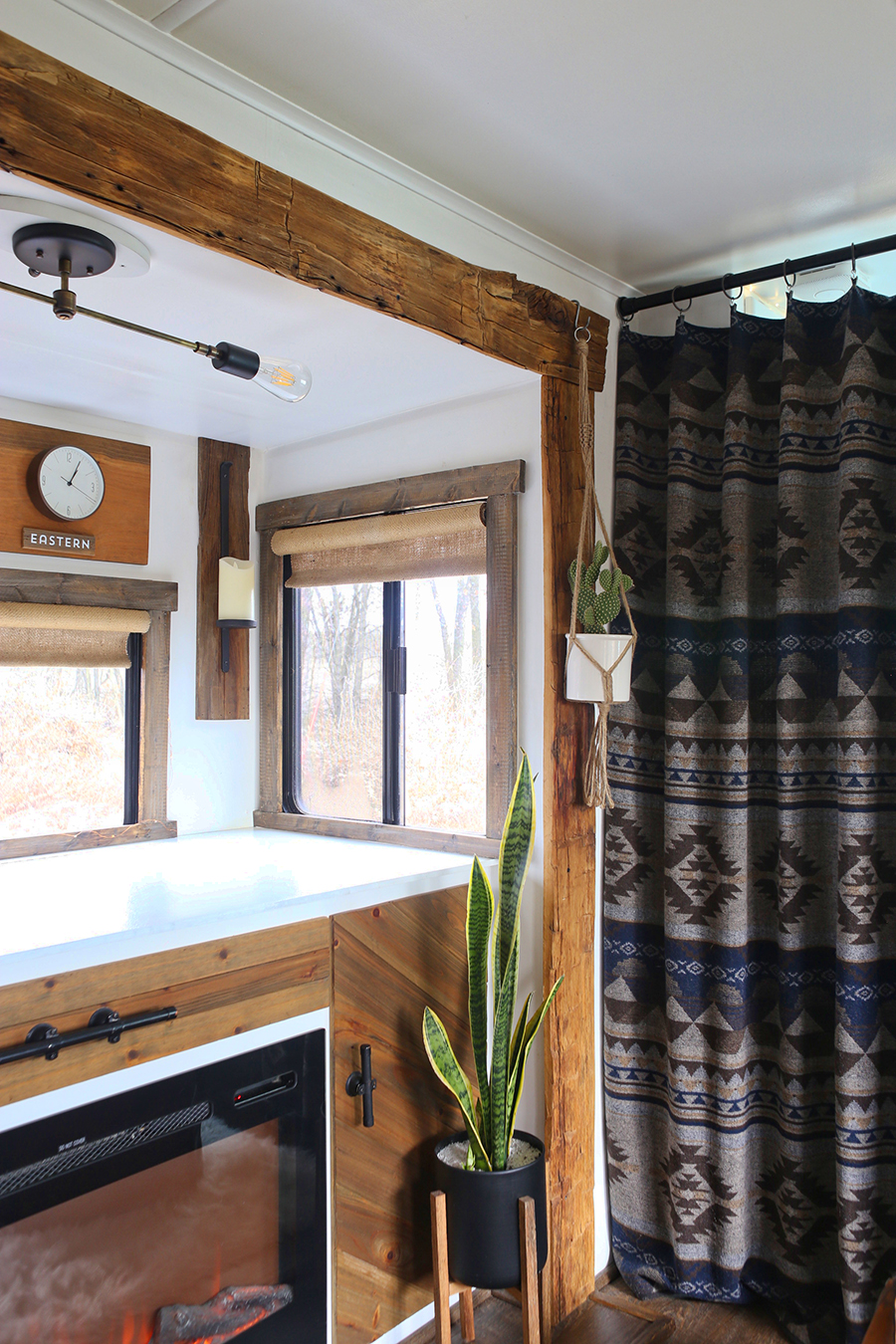 Using blankets for curtains in home or RV | MountainModernLife.com