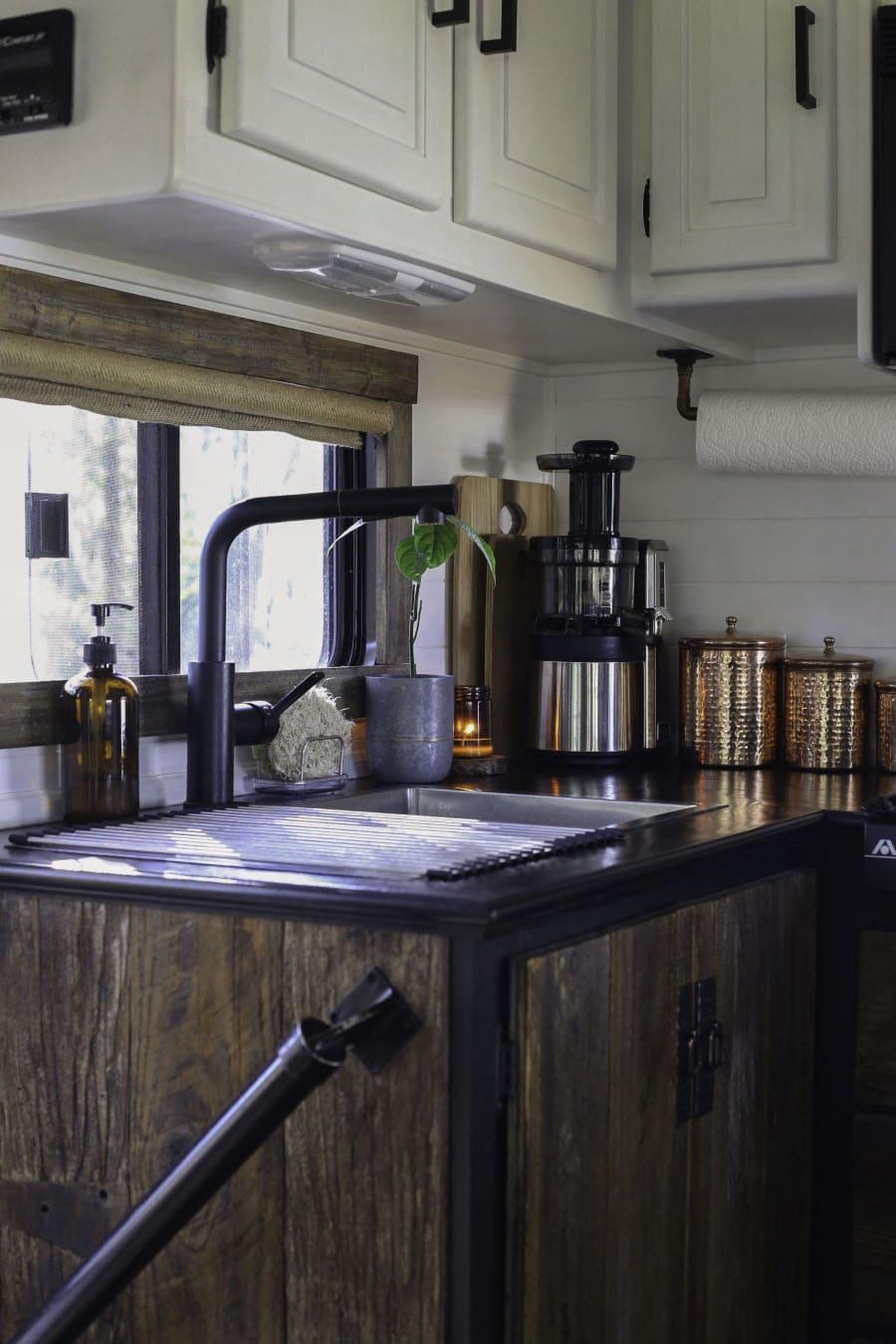Black RV Kitchen Countertops