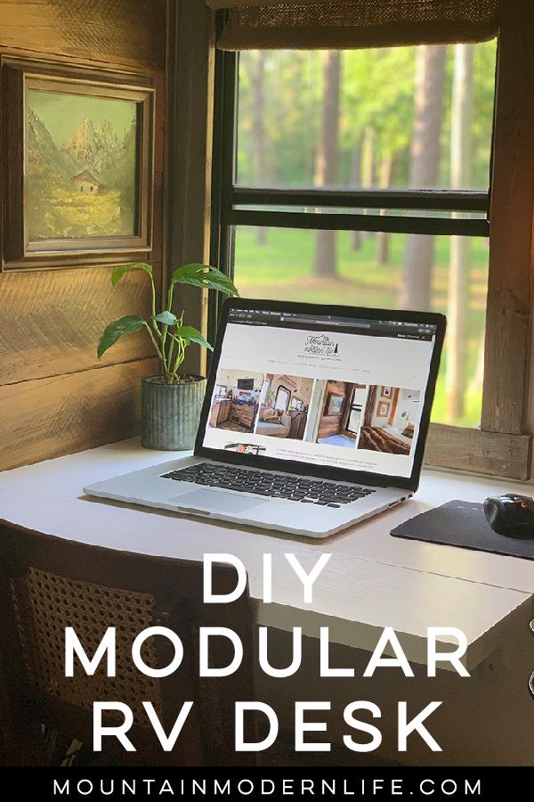 DIY modular RV desk