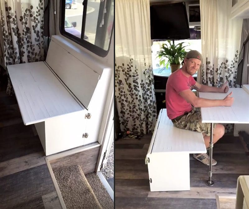 Space saving desk idea for RV