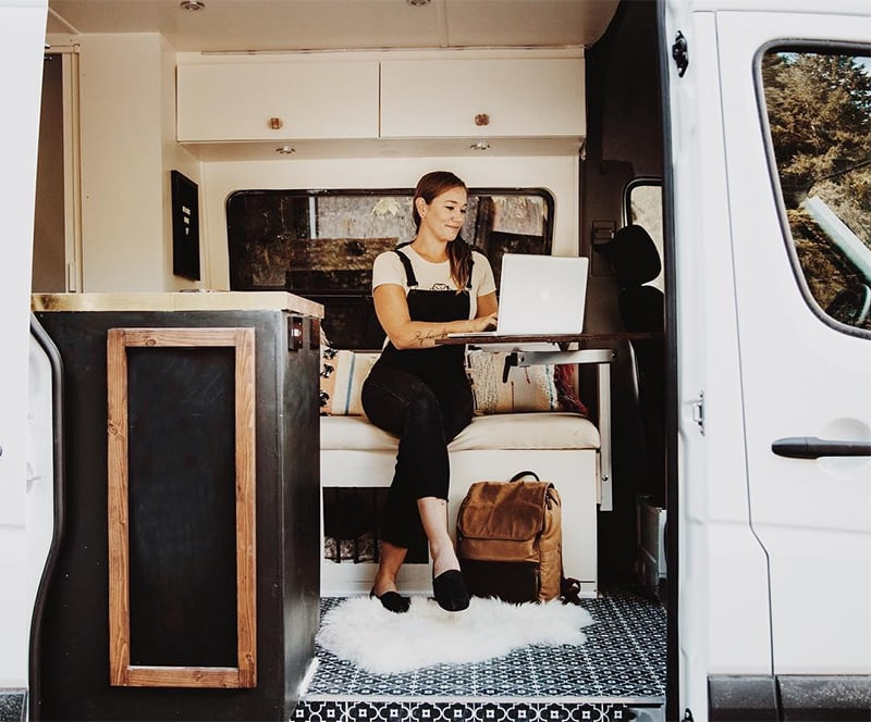 van conversion mobile office