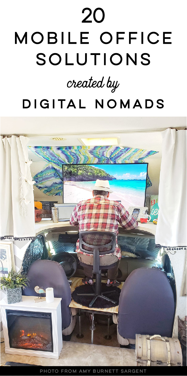 motorhome desk ideas