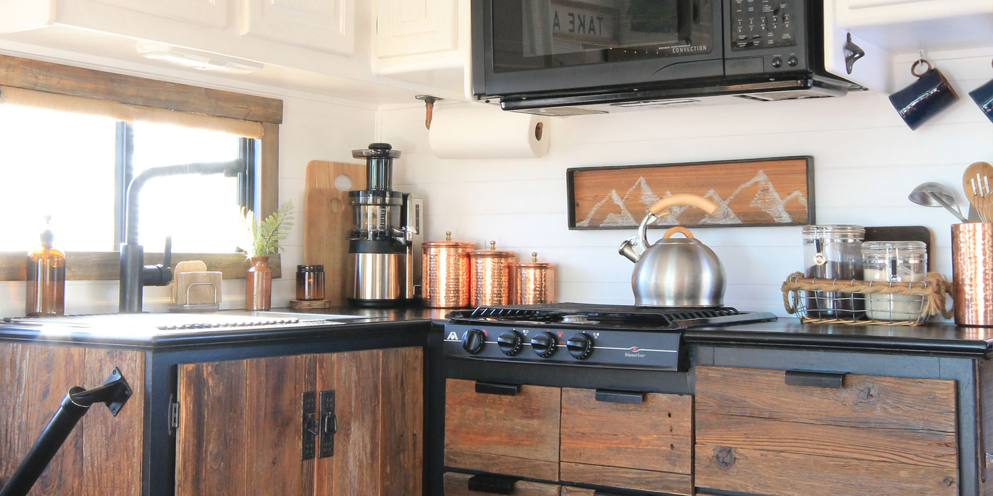 RV Kitchen backsplash ideas | MountainModernLife.com