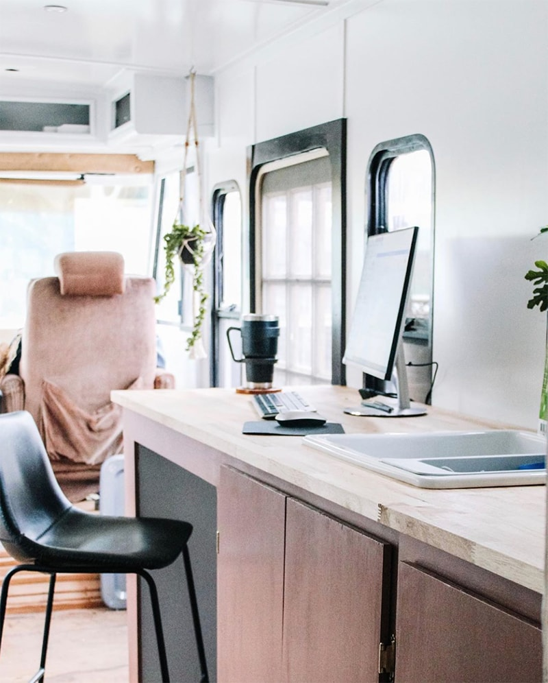 Rv mobile desk ideas