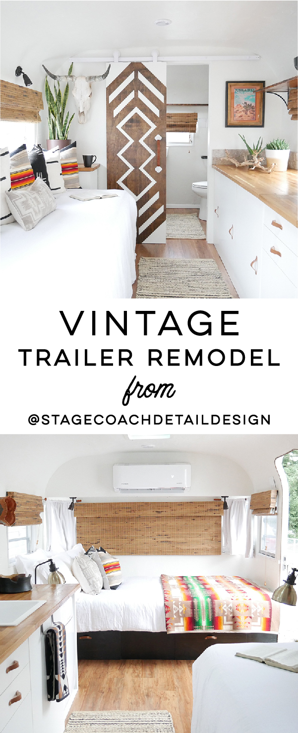 The Joshua Tree Suite: This vintage trailer remodel was inspired by a Pendleton blanket