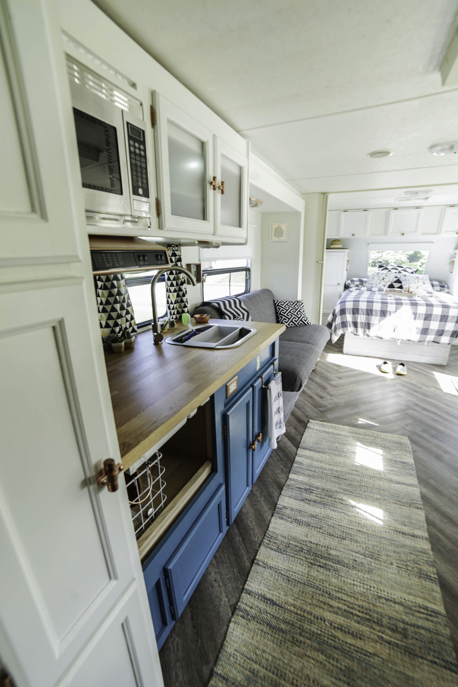 Remodeled Travel Trailer With Modern Country Accents