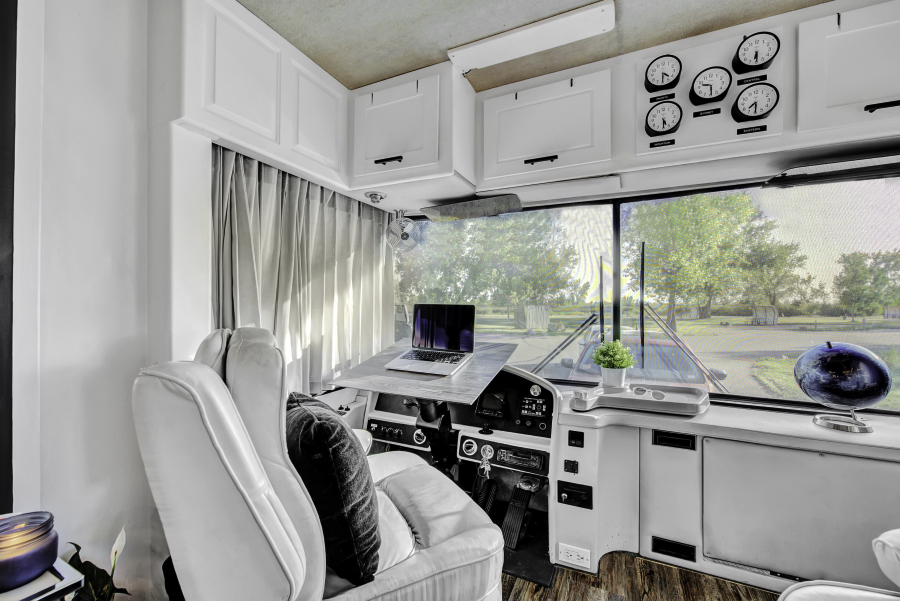 Contemporary Motorhome Remodel featuring RVLove