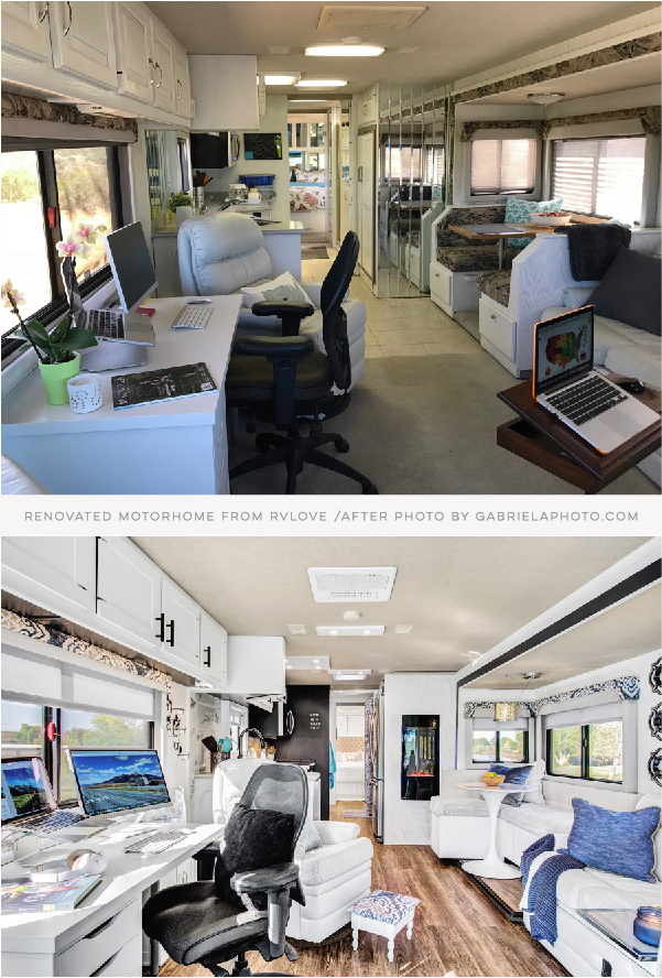 RV before and after remodel