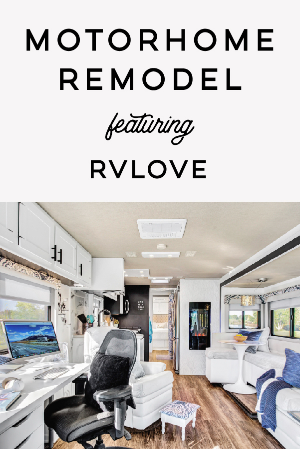 This contemporary motorhome renovation was completed off-grid in under a month