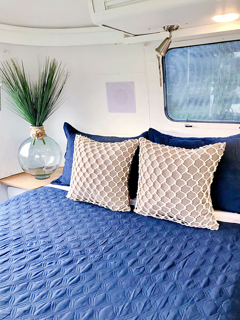 nautical inspired airstream bedroom