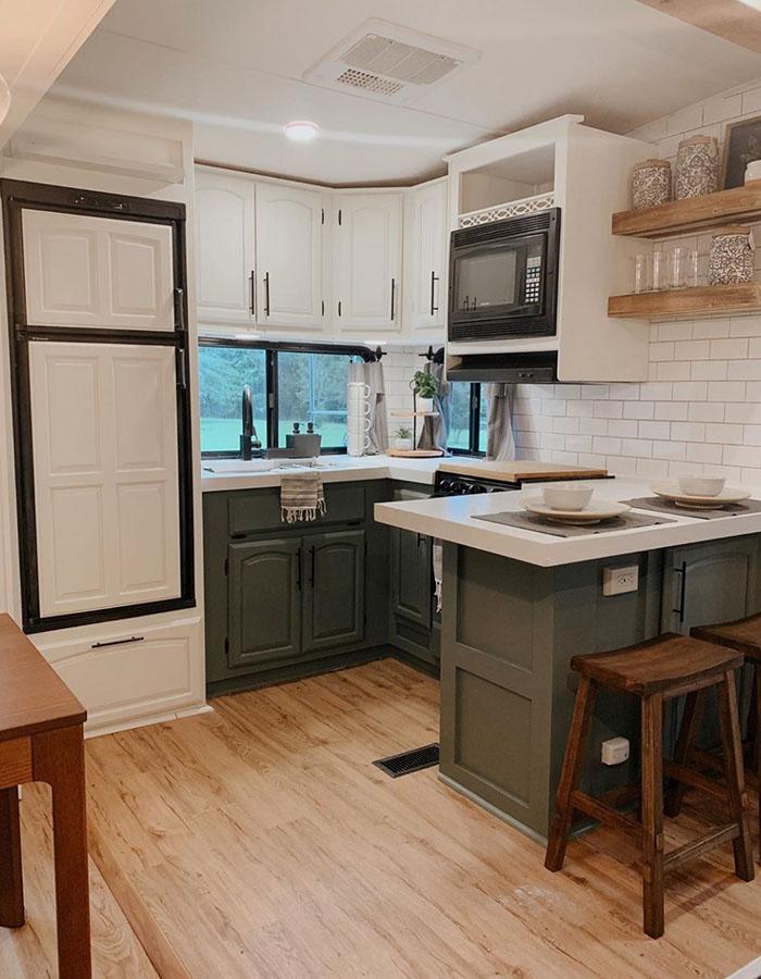 RV Kitchen Renovation from @karleemmarsh