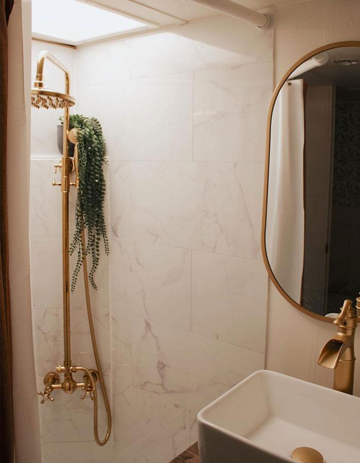 RV Bathroom Remodel from @karleemmarsh