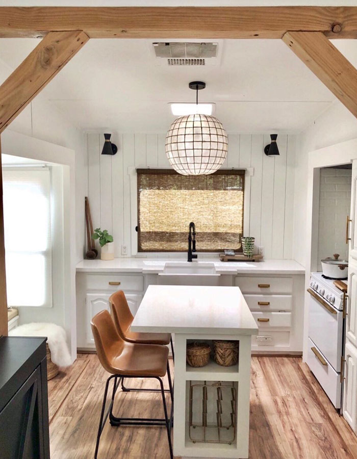 modern 5th wheel remodel from @rvfixerupper