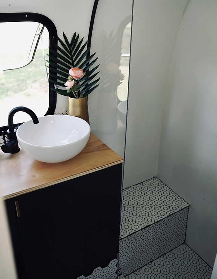 Vintage Airstream Bathroom Renovation