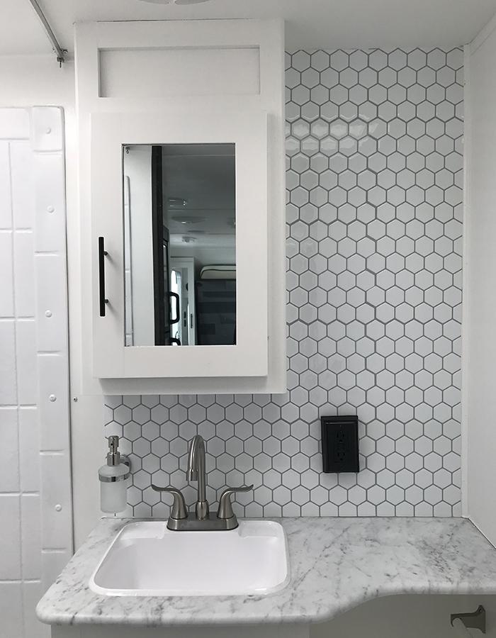 Modern RV Bathroom Renovation