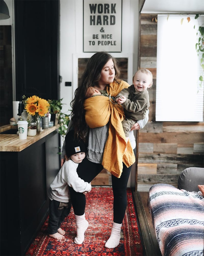 Autumn Bailey of Asphalt Gypsy in Renovated Toy Hauler