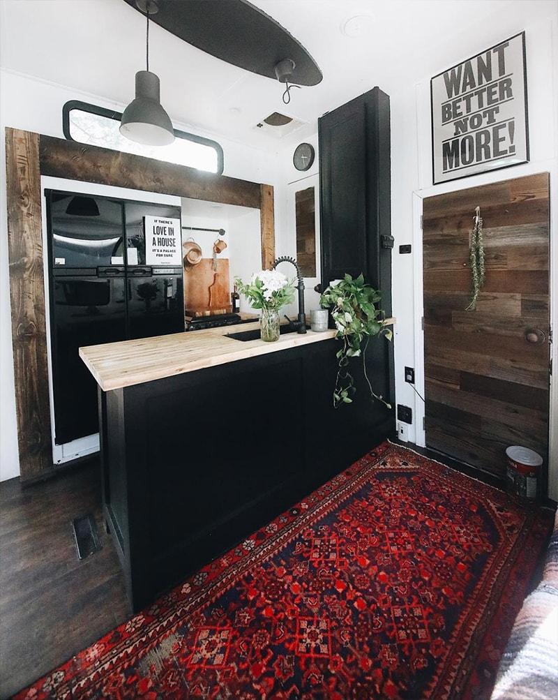Renovated Toyhauler Kitchen from Asphalt Gypsy