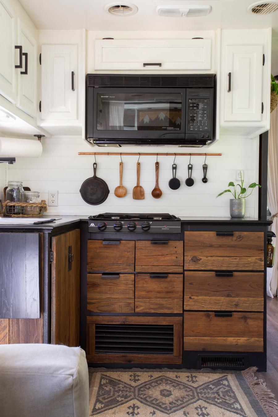rustic modern rv kitchen