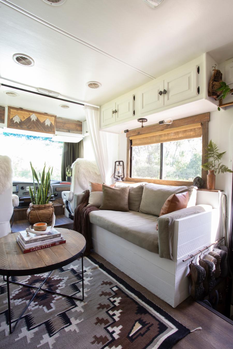 rustic camper interior